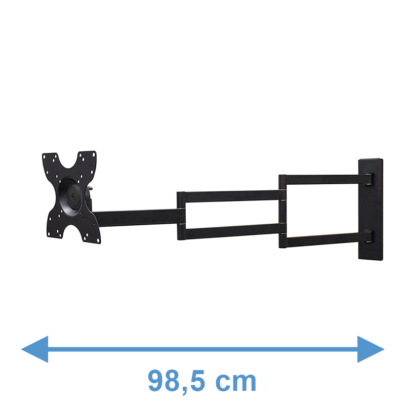 DQ Rotate XL 98,5 cm Supporto TV Nero